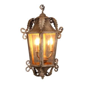 Boho Ibiza IJzeren lantaarn met 3 lampen - L